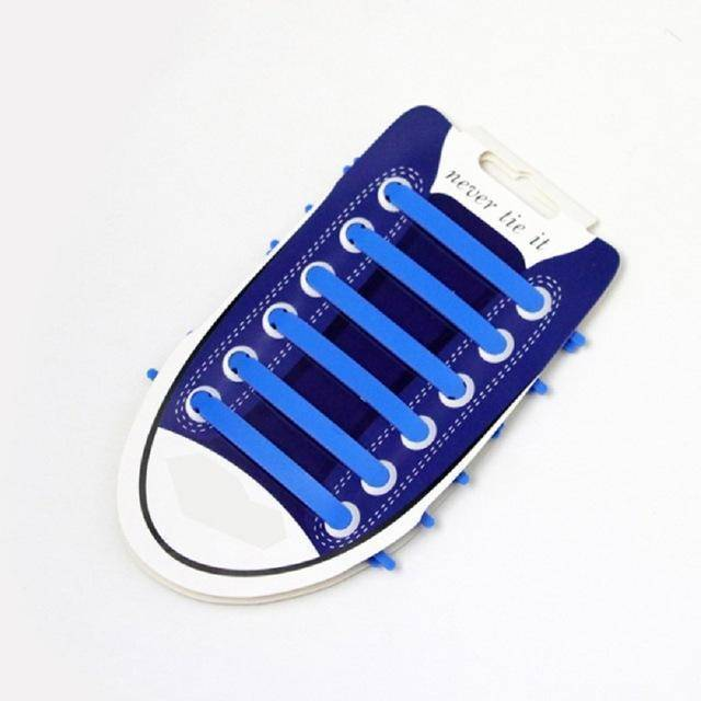 dark blue No Tie Silicone Shoelaces - Easy Lace your Shoes-Shoelaces-TheWantsies.com