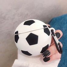 Soccer Basketball Soccer Football Silicone Shockproof Protective Case For AirPods 1 & 2 with Carabiner-Protective Cases for Airpods-TheWantsies.com