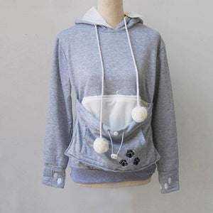 Women's Pet Carrier Hoodie Sweatshirt with Puppy Pouch-Hoodies & Sweatshirts-TheWantsies.com