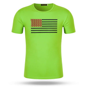 Green Flag WantsieFit Mens American Flag Fitness Compression T-Shirt - Bodybuilding Athletic Fit-T-Shirts-M-TheWantsies.com