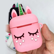 Pink Unicorn Protective Shockproof Silicone Case For AirPods with Bonus Anti Lost Strap-Protective Cases for Airpods-TheWantsies.com