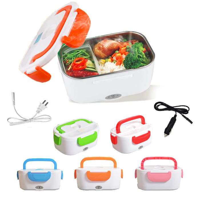 Heating Electric Lunch Box For Travelers, Truck Drivers, Car, Home or Work-Lunch Boxes-TheWantsies.com
