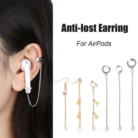 Wantsies Anti-Lost AirPod Earrings for Airpods 2/3 Pro - Pierced or Clip On Wireless Earphone Savers-Airpod Earrings-TheWantsies.com
