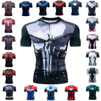 """The Punisher"" WantsieFit Mens Superhero Compression Gym T-Shirt V2-T-Shirts-European size XXL-TheWantsies.com"