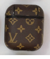 Brown LV Designs LV Style Protective Case For AirPods 1 & 2 with Carabiner-Protective Cases for Airpods-TheWantsies.com