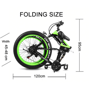 ZPAO Mountain e-bike 1000W Foldable 26Inch 4.0 Fat Tires