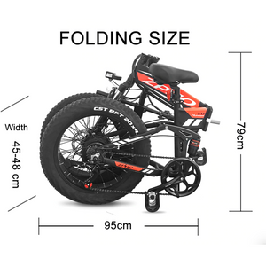ZPAO Fat Tire Folding Electric Bike
