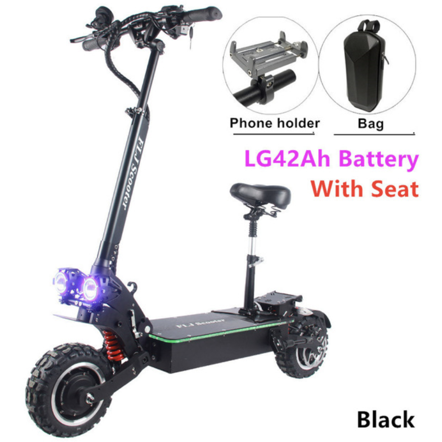FLJ SK3 E-Scooter 6000W + Free Handle bag and Phone holder