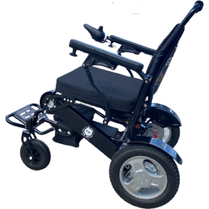 Bariatric Electric Folding Lightweight Wheelchair 180kg Capacity on Sale Extra Wide Seat