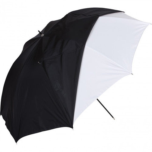Westcott White Satin Umbrella with Removable Black Cover - 45""