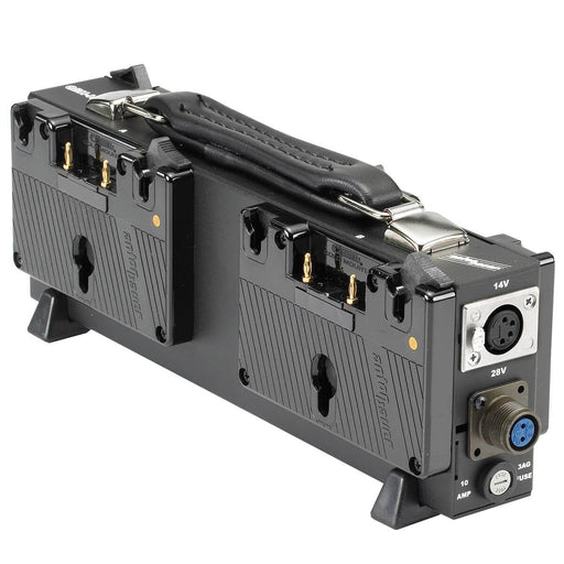 Anton Bauer Quad Battery Holder-HD - Dual Voltage, 28.8 and 14.4 VDC for Film and Video Production from OnSetLighting.com