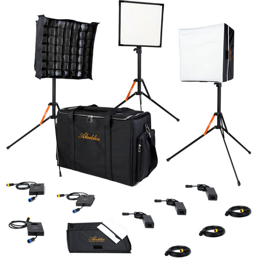 BI-FLEX1 - 3 Light Kit w/ Case - Bi-Color (3000?K-6000?K) - 3x 1'X1', 50W from OnSetLighting.com