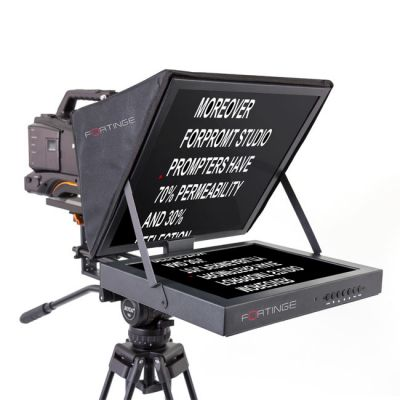 Fortinge PROS17 17'' Studio Prompter Set with HDMI, VGA, BNC Input