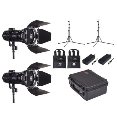 Hive Lighting Wasp 100-C LED SpotåÊ2 Light Kit with 2 Lens Sets, 2 Stands and Case (Custom Foam)