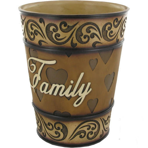 Pella Goods - 'Family' Bathroom Trash Bin,Trash Bin-