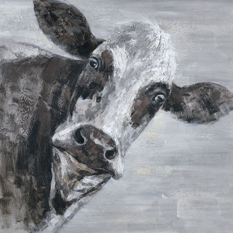 Pella Goods - Black & White Cow Canvas,Canvas Picture-