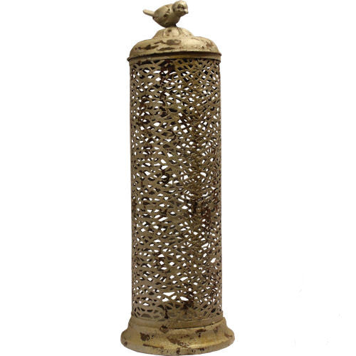 Pella Goods - Metal Bird Candle Holder,Metal Decor-