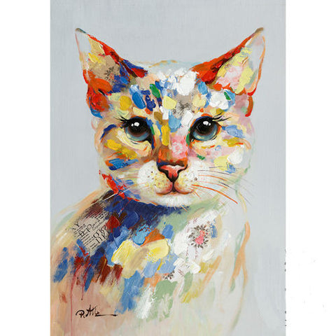 Pella Goods - Colorful Cat Canvas,Canvas Picture-
