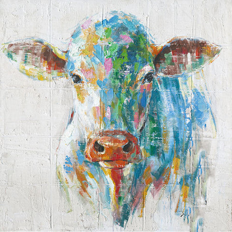 Pella Goods - Colorful Cow Canvas Picture,Canvas Picture-