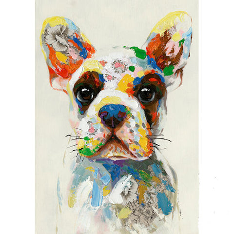 Pella Goods - Colorful Dog Canvas,Canvas Picture-