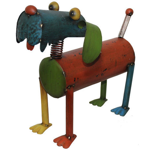 Pella Goods - Colorful  Dog Metal Figurine,Metal Figurine-