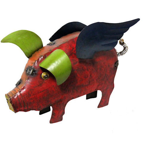 Pella Goods - Pigs With Wings Metal Figurine,Metal Figurine-