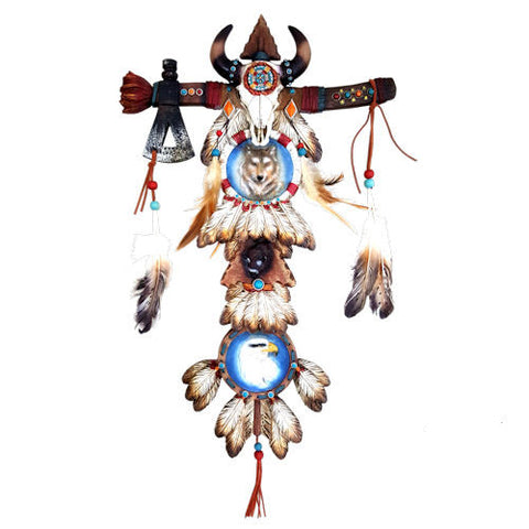 Pella Goods - Feathered Aztec Wall Cross,Wall Cross-