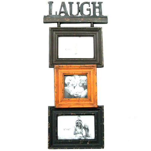 Pella Goods - 'Laugh' Triple Wall Frame,Picture Frame-