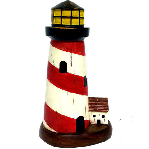 Pella Goods - Large Red Lighthouse Nautical Decor,Nautical Decor-