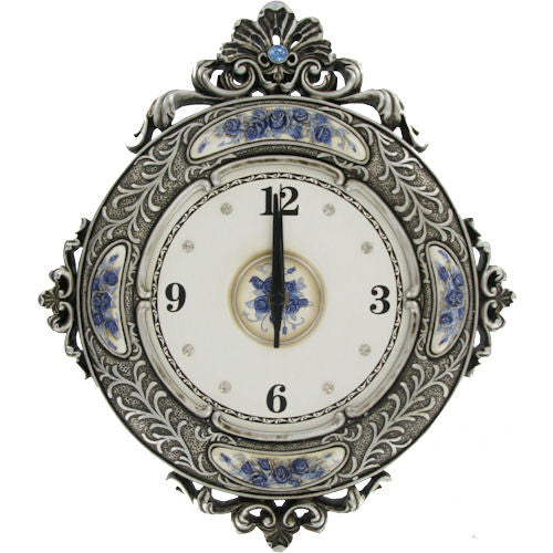 Pella Goods - Antiqued Silver Wall Clock,Wall Clock-