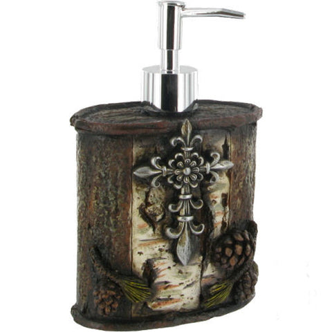 Pella Goods - Pine Cone Soap Pump With Cross,Soap Pump-