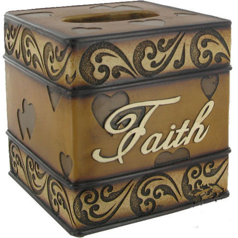 Pella Goods - 'Faith' Tissue Box,Tissue Box-