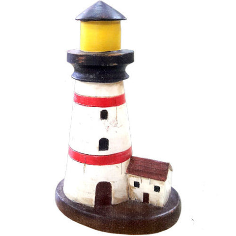 Pella Goods - Small White Lighthouse Nautical Decor,Nautical Decor-