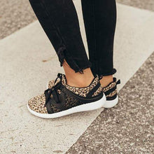 Load image into Gallery viewer, Bonnieshoes Women The Adrian Leopard Lace-up Sneakers