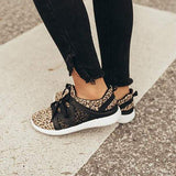 Bonnieshoes Women The Adrian Leopard Lace-up Sneakers