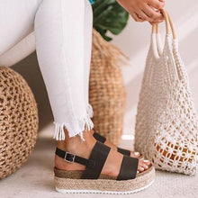 Load image into Gallery viewer, Bonnieshoes Casual Espadrille Platform Sandals