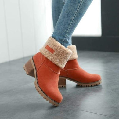 Bonnieshoes  Winter Shoes Fur Warm Snow Boot