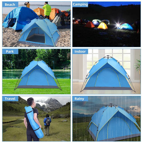 2-3 Person Double-Deck Tow-Door Hydraulic Automatic Tent [Delivery in 3-7 days]