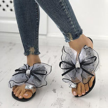 Load image into Gallery viewer, Bonnieshoes  Cute Bow Deco Rhinestone Slippers