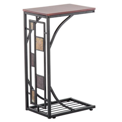 Iron Side Table Coffee Table Brown [Delivery in 3-7 days]