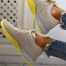 Load image into Gallery viewer, Bonnieshoes Colorblock Knitted Breathable Lace-Up Sneakers