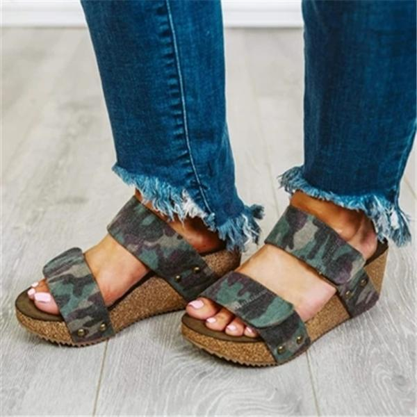 Bonnieshoes Summer Wedge Sandals