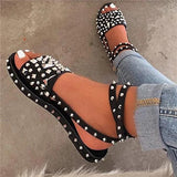 Bonnieshoes Buckle Open Toe Western Casual Sandals
