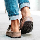 Bonnieshoes Women Casual Comfy Leather Slip On Sandals