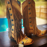 Bonnieshoes Tassel Rivet Fashion Cowboy Boots