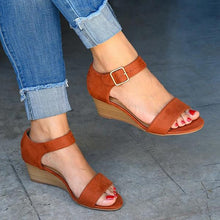 Load image into Gallery viewer, Bonnieshoes Daily Comfy Low Heel Wedge Sandals
