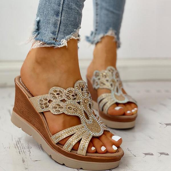 Bonnieshoes Platform Wedge Casual Sandals