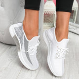 Bonnieshoes Breathable Lightweight Lace-Up Sneakers