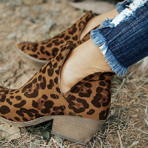 Bonnieshoes Cut Out Booties Ankle Heels Boots