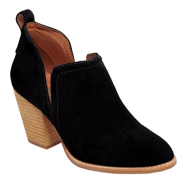 Bonnieshoes Suede Cut-out Ankel Boots